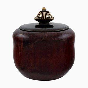 Patrick Nordstrøm & Carl Halier für Royal Copenhagen Glasierte Keramik Vase, 1920er