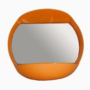 Orange Illuminated Wall Mirror