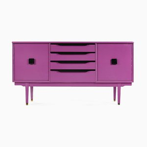 Purple Lacquered Wood Console Table, 1960s