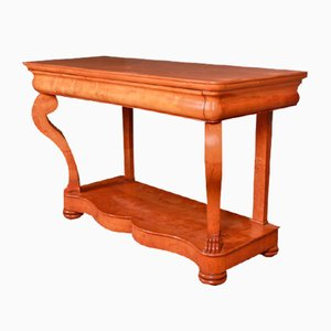 French Applewood Console Table, 1820s