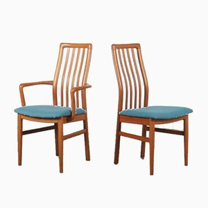 Teak Dining Chairs by Kai Kristiansen for Schou Andersen Møbelfabrik A/S, Denmark, 1970s, Set of 6