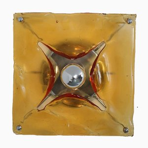 Glass Wall Light from Mazzega, Italy, 1970s