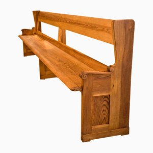 Antique Pew Pine Church Bench