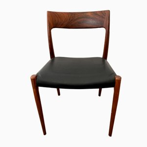 Mid-Century Rosewood Model 77 Dining Chair by Niels Otto Møller