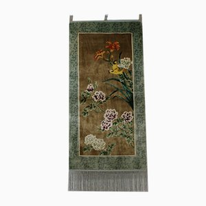 Vintage Chinese Hand-Knotted Silk Tapestry Carpet
