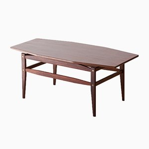 Italian Modern Mahogany Coffee Table, 1950s