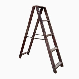 Vintage Wooden Ladder, 1940s