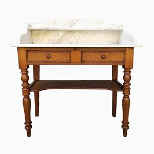 Marble Top Bathroom Console Table