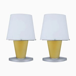 Italian Murano Glass Table Lamps from Fontana Arte, 1970s, Set of 2