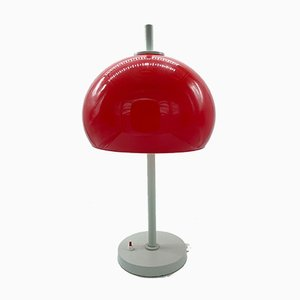 Red Mushroom Table Lamp, Italy, 1970s