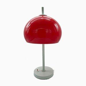 Red Mushroom Table Lamp, Italy, 1970s