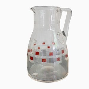 Antique Jugendstil Austrian Glass Milk Jar