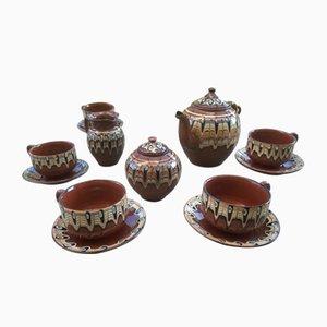Glazed Stoneware Coffee Set, 1970s