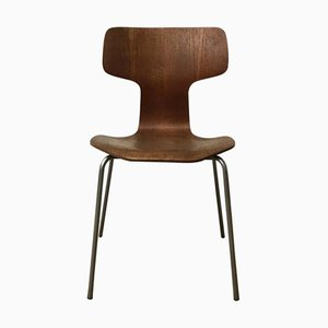 Gray Base Model 3103 Dining Chair by Arne Jacobsen for Fritz Hansen, 1960s