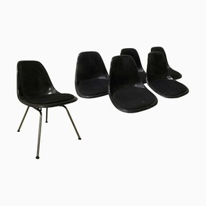 DSS Fiber H-Base Dining Chair by Charles & Ray Eames for Herman Miller, 1970s