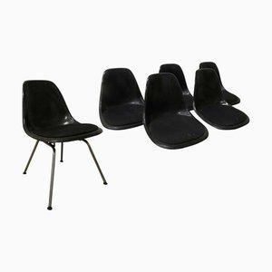 DSS Stuhl auf Glasfaser mit H-Basis von Charles & Ray Eames für Herman Miller, 1970er