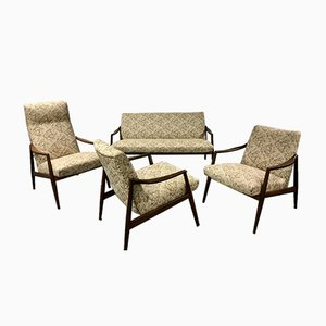 Mid-Century Teak Living Room Set by Hartmut Lohmeyer for Wilkhahn, 1959, Set of 4