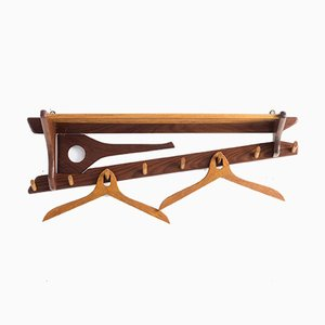 Teak Wall Coat Rack from Electrimeufa, 1970s
