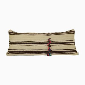 Woven Tribal Artisanal Textile Decorative Bolster Cushion Cover