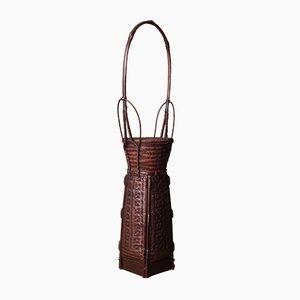 Vintage Japanese Hanakago Bamboo Basket