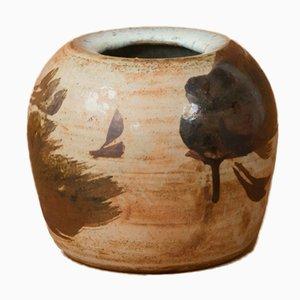 Steingut Vase von Conny Walther, 1970er