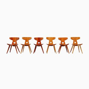 Danish Dining Chairs by Jacob Kielland-Brandt for I. Christiansen, 1960s, Set of 6