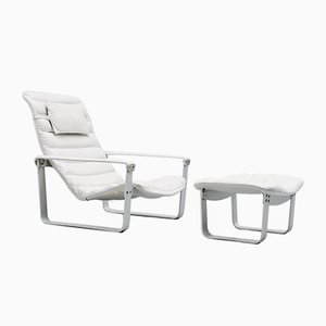 Finnish Pulkka Lounge Chairs by Ilmari Lappalainen for Asko, 1968, Set of 2