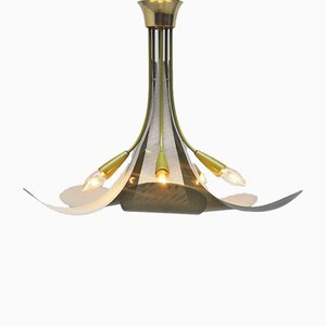French Ceiling Lamp in the Style of Mathieu Matégot, 1950s