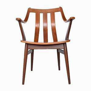 Dutch Teak Plywood Dining Chair in the Style of Hans Brattrud, 1960s