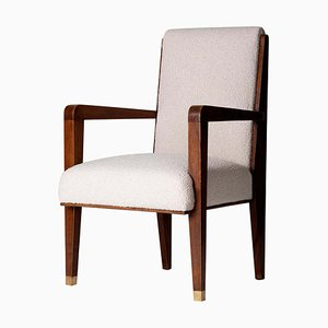 Vintage Modernist Mahogany Armchair by Maurice Jallot