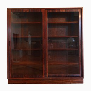 Danish Rosewood Display Cabinet by Omann Jun for Hundevad & Co., 1960s
