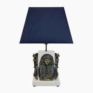 Lampada da tavolo con faraone Toetanchamon, anni '50
