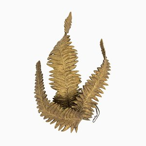 Ferns Wall Sconce in Gilt Bronze by Maison Charles, 1970s