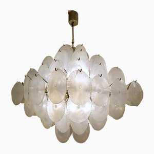 Nason Chandelier with Murano Glass Discs, 1960s