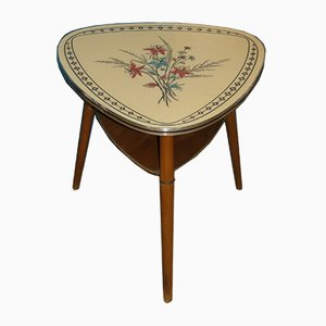 Mid-Century Floral Side Table, 1950s
