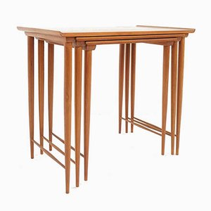 Danish Modern Teak Nesting Tables by Grete Jalk, 1960s