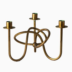 Swedish Swung Brass Candleholder by Josef Frank for Svenskt Tenn, 1950s