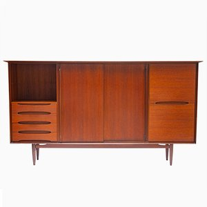 Large Danish Teak Veneered Highboard, 1960s