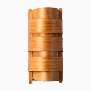 Veneered Pine Wall Sconce by Hans-Agne Jakobsson for Ellysett Markaryd, 1970s