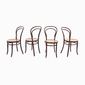 Swiss Bistro Chairs by Berthold Kahn, 1920s, Set of 4