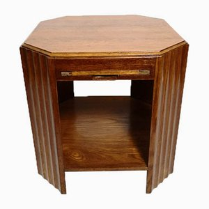 Teak Side Table with Extendable Top, 1970s