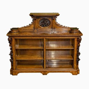 Victorian Burl Walnut Bookcase