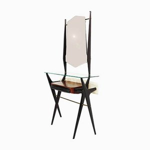 Italian Console Table with Mirror Attributed to Ico Parisi for Ariberti Colombo, 1950s