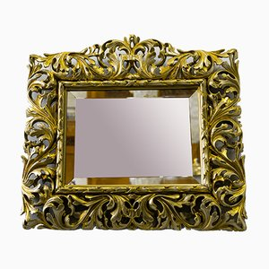 Gilt Florentine Wall Mirror Hand-Carved, Austria, 1880s