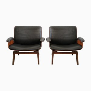 Italian Lounge Chairs by Ico Parisi for MIM, 1950s, Set of 2