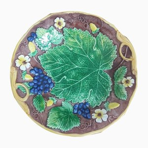 Majolica Plates by Mottahedeh, 1980s, Set of 2