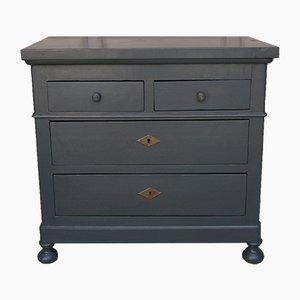 Vintage Chest of Drawers in Anthracite, 1920s