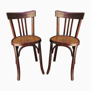 French Bistro Chairs from Baumann, 1940s, Set of 2