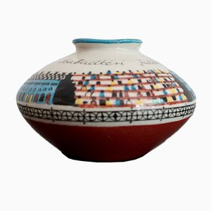 Mid-Century Hungarian Hand painted Ceramic Vase, 1960s
