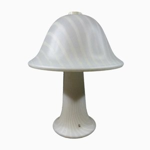 Large Striped Glass Mushroom Table Lamp from Peill & Putzler, Germany, 1970s